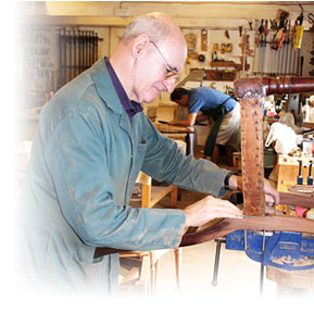 Bob restoring an antique chair